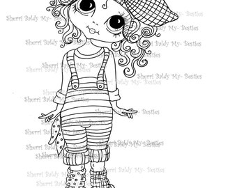 INSTANT DOWNLOAD Digital Digi Stamps Big Eye Big Head Dolls Digi  My Besties remiximg 941 Dee Dee Dimples By Sherri Baldy