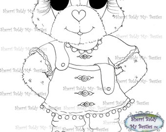 INSTANT DOWNLOAD Digital Digi Stamps Big Eye Big Head Dolls Bestie New Bestie Bears  img1 My Besties By Sherri Baldy