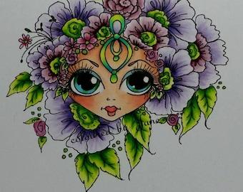 INSTANT digitale Digi Stamps Big Eye Big hoofd poppen Digi mijn Besties Img950 Bloomin Besties TM door Sherri Baldy downloaden