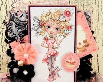 INSTANT DOWMLOAD Digital Digi Stamps Big Eye Big Head Dolls Digi Crafty Chicks Scann004  By Sherri Baldy