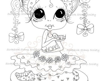INSTANT DOWNLOAD Digital Digi Stamps Big Eye Big Head Dolls Digi  Img746 By Sherri Baldy