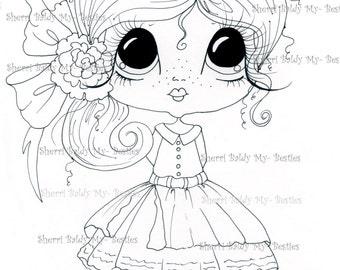 INSTANT DOWNLOAD Digital Digi Stamps Big Eye Big Head Dolls Img432 My Besties By Sherri Baldy