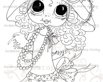 INSTANT DOWNLOAD Digital Digi Stamps Big Eye Big Head Dolls Digi  My Besties IMG791 Gay Gatsby  By Sherri Baldy