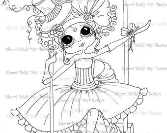 INSTANT DOWNLOAD Digital Digi Stamps Big Eye Big Head Dolls Digi  My Besties IMG256 By Sherri Baldy