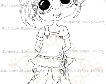 INSTANT DOWNLOAD Digital Digi Stamps Big Eye Big Head Dolls Messy Bessy My Besties Digi Miss Img741 By Sherri Baldy