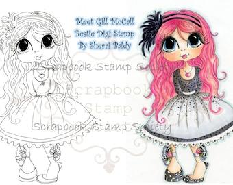 INSTANT DOWNLOAD Digital Digi Stamps Big Eye Big Head Dolls Digi   Besties Ginger  By Sherri Baldy
