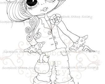 INSTANT DOWNLOAD Digital Digi Stamps Big Eye Big Head Dolls Messy Bessy IMG827 My Besties By Sherri Baldy