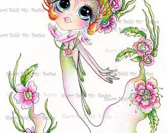 INSTANT DOWNLOAD Digital Digi Stamps Big Eye Big Head Dolls NEW Bestie Img677 Besties By Sherri Baldy