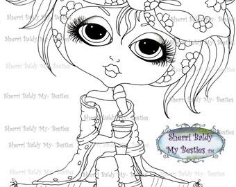 INSTANT DOWNLOAD digitale Digi Stamps Big Eye Big Head poppen img169 Bestie door Sherri Baldy