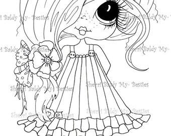 INSTANT DOWNLOAD Digital Digi Stamps Big Eye Big Head Dolls Bestie New Bestie Clever Chole Remix My Besties By Sherri Baldy