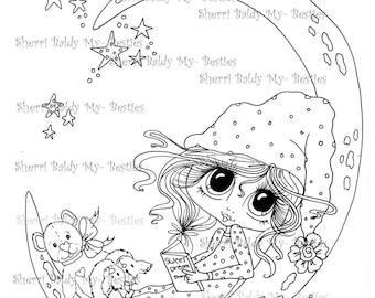 INSTANT DOWNLOAD Digital Digi Stamps Big Eye Big Head Dolls Bestie Scan0010  Besties TM By Sherri Baldy