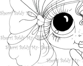 Téléchargement instantané numérique Digi Stamps Big Eye grosse tête poupées Digi Img988 2 par Sherri Baldy