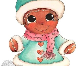INSTANT DOWNLOAD Digital Digi Stamps Big Eye Big Head Dolls NEW Bestie img835 gingerbread Bestie digi stamp My Besties By Sherri Baldy