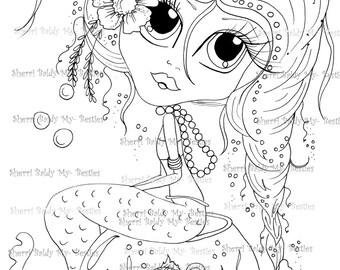 INSTANT DOWMLOAD Digital Digi Stamps Big Eye Big Head Dolls Digi Scan0001222  By Sherri Baldy