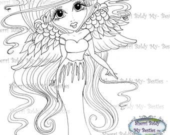 INSTANT DOWNLOAD Digital Digi Stamps Big Eye Big Head Dolls Scan0049 My Besties By Sherri Baldy
