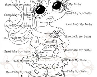 INSTANT DOWMLOAD Digital Digi Stamps Big Eye Big Head Dolls Digi  My Besties IMG845 By Sherri Baldy