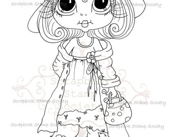 INSTANT DOWNLOAD Digi Stamps Big Eye Big Head Dolls Digi IMG765 By Sherri Baldy
