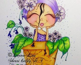 INSTANT DOWNLOAD Digital Digi Stamps Big Eye Big Head Dolls NEW My Besties img832 Insperation Garden By Sherri Baldy