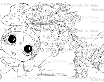INSTANT DOWNLOAD Digital Digi Stamps Big Eye Big Head Dolls Digi  My Besties IMG030 By Sherri Baldy