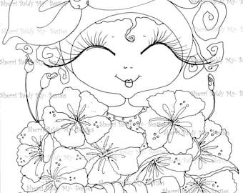 INSTANT DOWNLOAD Digital Stamp Img870 Flowers My Besties By Sherri Baldy