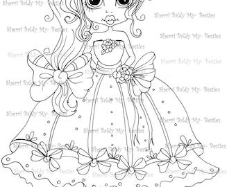 INSTANT DOWNLOAD Digital Digi Stamps Big Eye Big Head Dolls Scan Princess My Besties Digi By Sherri Baldy