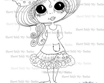 INSTANT DOWNLOAD Digital Digi Stamps Big Eye Big Head Dolls Digi  My - Besties  Sherri Ann By Sherri Baldy