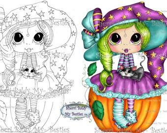 INSTANT DOWNLOAD Digital Digi Stamps Big Eye Big Head Dolls Messy Bessy IMG913 My Besties By Sherri Baldy