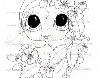 INSTANT DOWNLOAD Digital Digi Stamps Big Eye Big Head Dolls Digi  My Besties Garden Besties IMG733 By Sherri Baldy