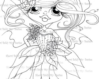 INSTANT DOWNLOAD Digital Digi Stamps Big Eye Big Head Dolls Bestie New Bestie Img623 My Besties By Sherri Baldy