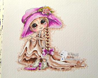 INSTANT DOWMLOAD Digital Digi Stamps Big Eye Big Head Dolls Digi Img070 Best Besties Forever By Sherri Baldy
