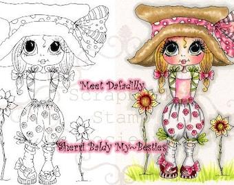 INSTANT DOWNLOAD Digital Digi Stamps Big Eye Big Head Dolls Digi  My Besties Dafadilly By Sherri Baldy