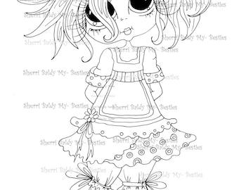 INSTANT DOWNLOAD Digital Digi Stamps Big Eye Big Head Dolls Digi  My - Besties img906 Bestie By Sherri Baldy