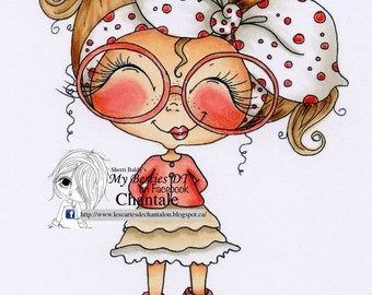 INSTANT DOWNLOAD Digital Digi Stamps Big Eye Big Head Dolls NEW Besties remixjuly4 My Besties By Sherri Baldy