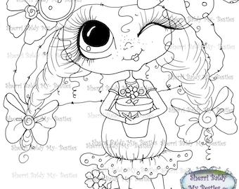 INSTANT DOWNLOAD Digital Digi Stamps Big Eye Big Head Dolls Digi  Img935 By Sherri Baldy