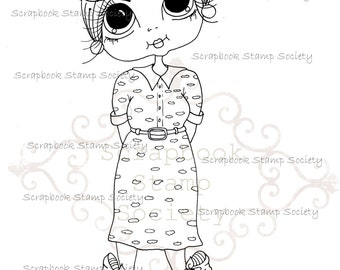 INSTANT DOWNLOAD Digital Digi Stamps Big Eye Big Head Dolls Digi  My - Besties  Carley Day out By Sherri Baldy