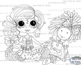 INSTANT DOWNLOAD Digital Digi Stamps Big Eye Big Head Dolls Digi  My Besties IMG30 2 By Sherri Baldy
