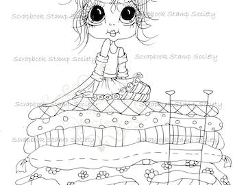 INSTANT DOWNLOAD Digital Digi Stamps Big Eye Big Head Dolls Digi  My - Besties  IMG792 By Sherri Baldy