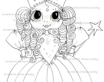INSTANT DOWNLOAD Digital Digi Stamps Big Eye Big Head Dolls Digi   Besties IMG623  By Sherri Baldy