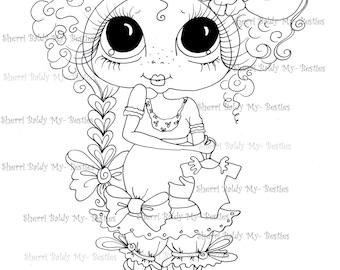 INSTANT DOWNLOAD Digital Digi Stamps Big Eye Big Head Dolls IMG216  My Besties By Sherri Baldy