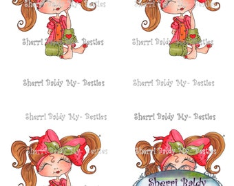 INSTANT DOWNLOAD Big Eye Big Head Dolls NEW Just Thinkin Bestie 3D Deco Color Printable Sheet My Besties By Sherri Baldy