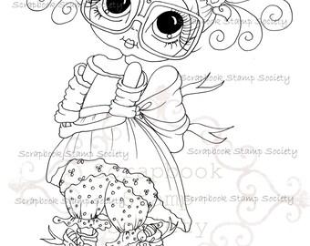 INSTANT DOWNLOAD Digital Digi Stamps Big Eye Big Head Dolls Messy Bessy IMG800 My Besties By Sherri Baldy