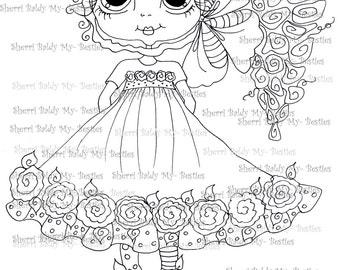 INSTANT DOWNLOAD Digital Digi Stamps Big Eye Big Head Dolls Digi   Besties IMG977  By Sherri Baldy
