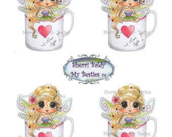 Instant Download decbkcoloredprintable9 3D Decoupage kit Besties Big Head Dolls Digi By Sherri Baldy
