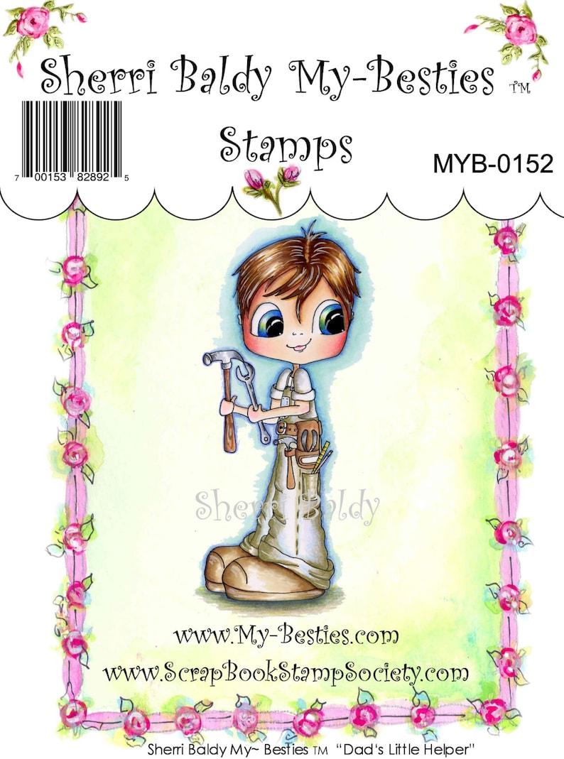 My-Besties Clear Rubber Stamp Big Eye Besties Big Head Dolls Bestie Boyfriends Dads Little Helper MYB-0152  By Sherri Baldy