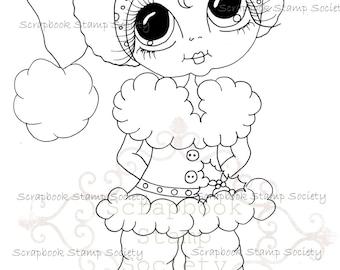 INSTANT DOWNLOAD Digital Digi Stamps Big Eye Big Head Dolls Messy Bessy IMG833 My Besties By Sherri Baldy