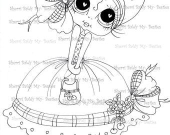 INSTANT DOWNLOAD Digital Digi Stamps Big Eye Big Head Dolls Berrielicious Bestie IMG105 By Sherri Baldy