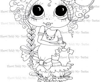 INSTANT DOWMLOAD Digital Digi Stamps Big Eye Big Head Dolls Digi Expecting Img216 By Sherri Baldy
