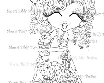 INSTANT DOWMLOAD Digital Digi Stamps Big Eye Big Head Dolls Digi New My Besties Remix1 By Sherri Baldy
