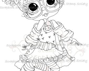 INSTANT DOWMLOAD Digital Digi Stamps Big Eye Big Head Dolls Digi Geeky By Sherri Baldy