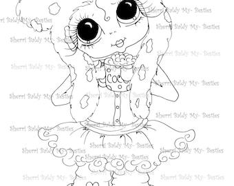 INSTANT DOWNLOAD Digi Stamps Big Eye Big Head Dolls Digi Bestie IMG182 By Sherri Baldy
